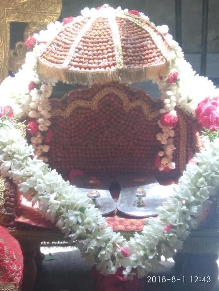Srividhya THrone1